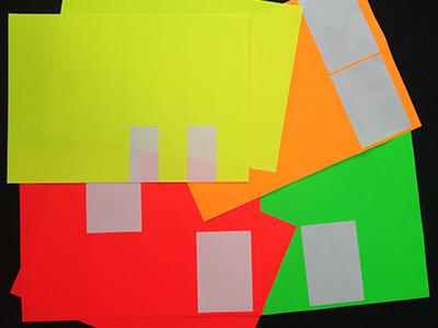 Etishop A4 laser etiketten geel oranje rood groen